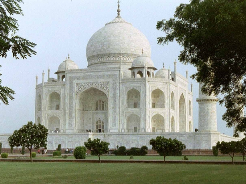 north india with taj mahal